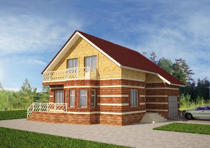 """Проект дома из СИП-панелей """"Дворянская усадьба"""""""