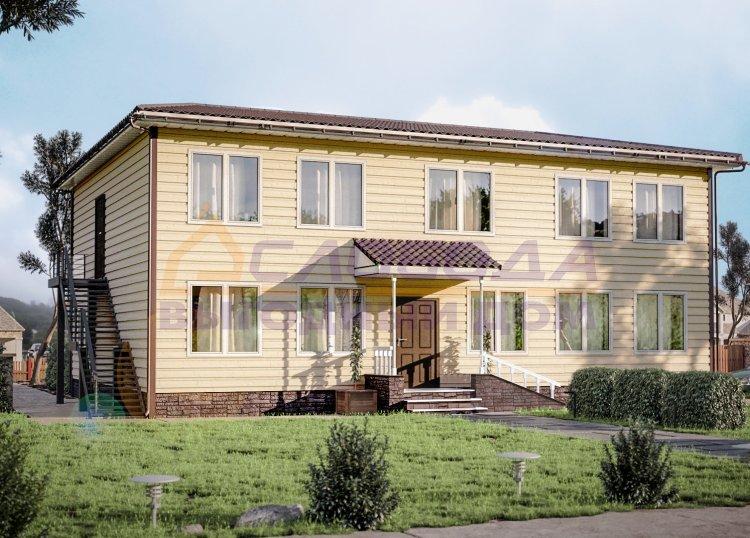 Готовый дом из сип панелей в г. Усинск, Республика Коми