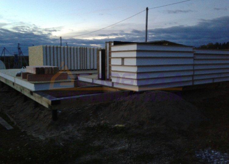 Готовый дом из сип панелей в дер. Луза Слободского района Кировской области