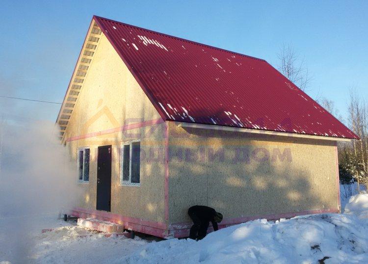 Готовый дом из сип панелей в д. Шутовщина, Кировская область