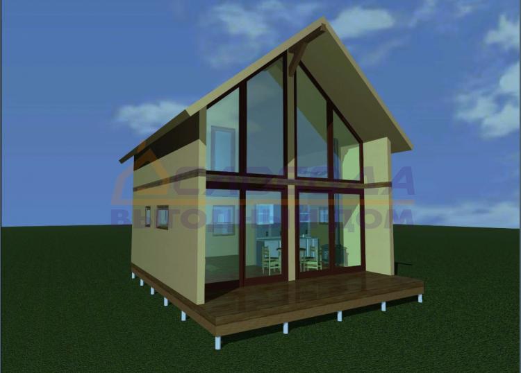 Готовый дом из сип панелей в Йошкар-ола