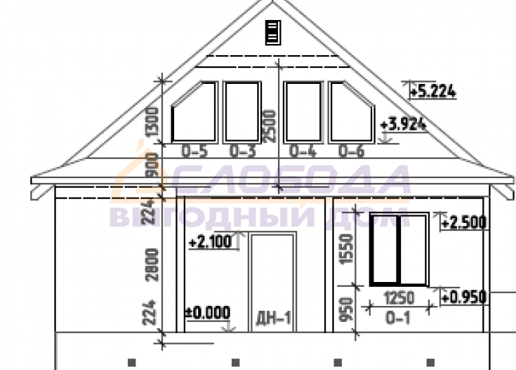 Готовый дом из сип панелей в Республика Коми, г. Ухта