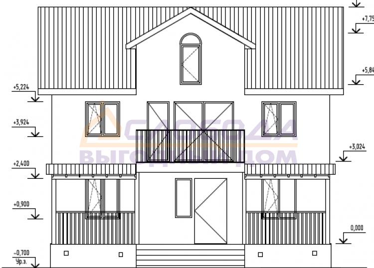 Готовый дом из сип панелей в Архангельск