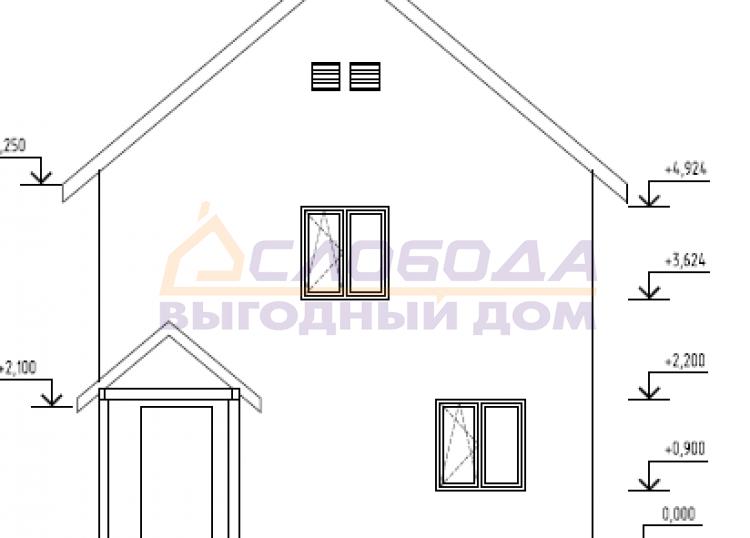 Готовый дом из сип панелей в г. Салехард, ЯНАО