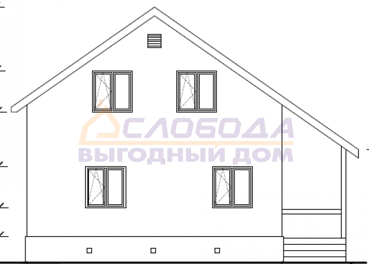 Готовый дом из сип панелей в г. Киров