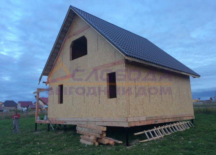Готовый дом из сип панелей в с. Усть-Кулом, Республика Коми