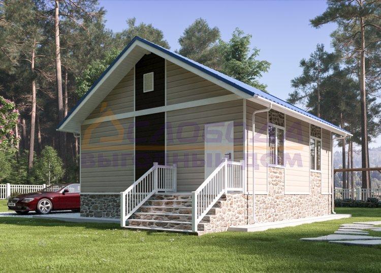Готовый дом из сип панелей в пос. Кебанъель Усть-Куломского района, респ. Коми