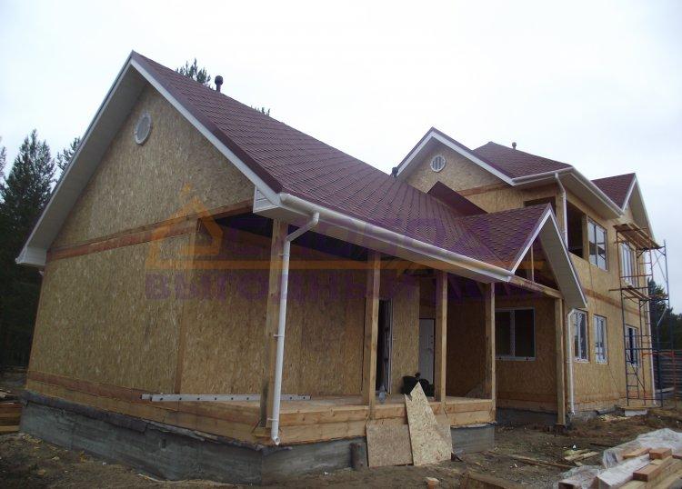 Готовый дом из сип панелей в п. Коччойяг, респ. Коми