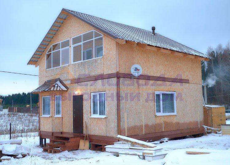 Готовый дом из сип панелей в д. Шмагины, Кировская область