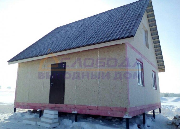 """Дом из SIP- панелей S-56,25 кв.м по проекту """"Семейный 2.0"""""""