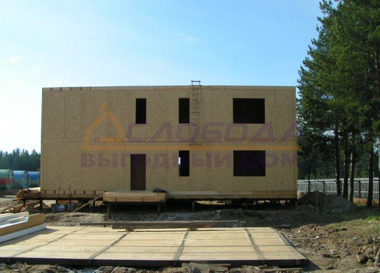 Готовый дом из сип панелей в с. Усть - Кулом, респ. Коми