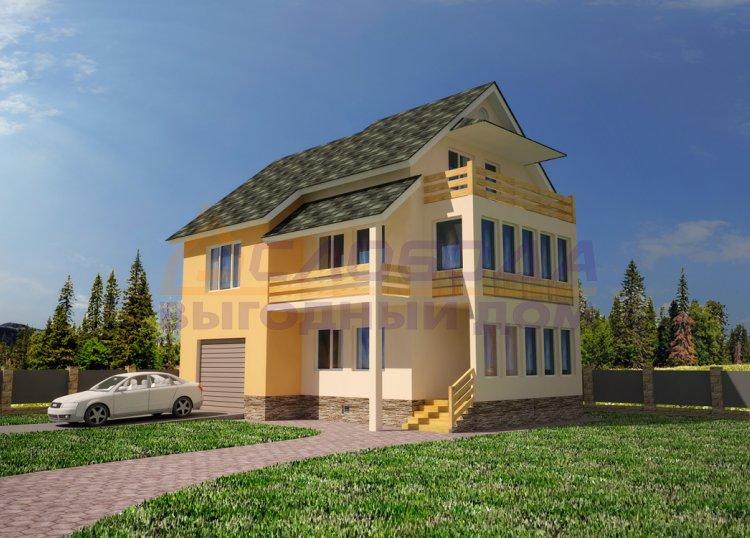 Дом двухэтажный с мансардой из сип панелей