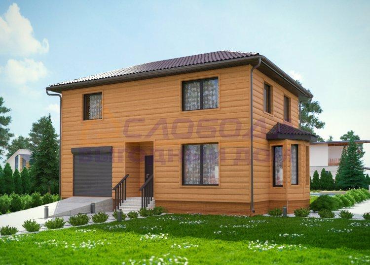 Дом двухэтажный из сип панелей