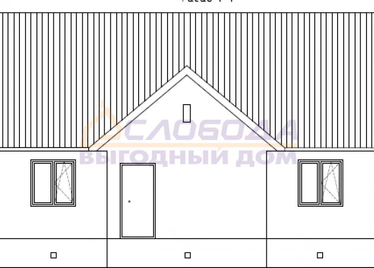 Готовый дом из сип панелей в пгт Пойковский Нефтеюганского района Ханты-Мансийского автономного округа