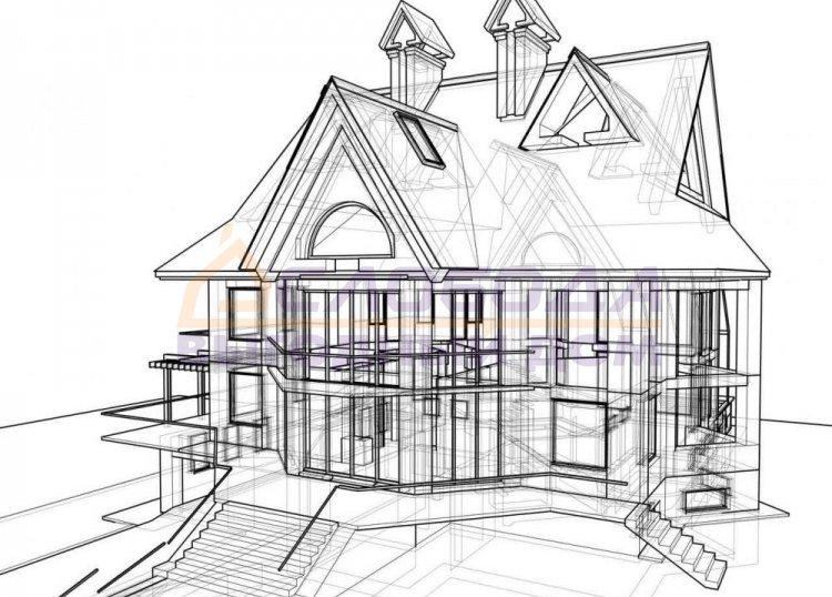 Строительство одноэтажного с мансардным этажом жилого дома