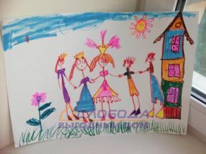 4. Горохова Кира, 4 года. Рисунок.