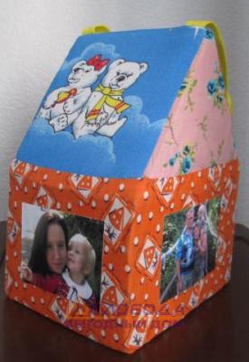 6. Кислицына Елизавета, 5 лет. Поделка из ткани.