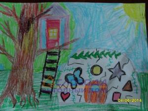 12. Лузянина Вероника, 7 лет. Рисунок.