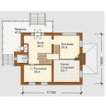 Планировка дома двухэтажного c мансардой