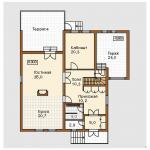 Планировка дома одноэтажного c мансардой