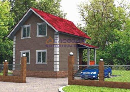 Дом одноэтажный с мансардой из сип панелей